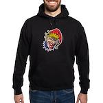 Laughing Evil Grin Clown Hoodie (dark)