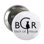 "Black Cat Rescue 2.25"" Button"