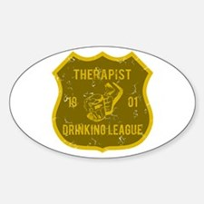 Therapist Drinking League Oval Decal