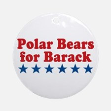 Polar Bears For Barack Ornament (Round)
