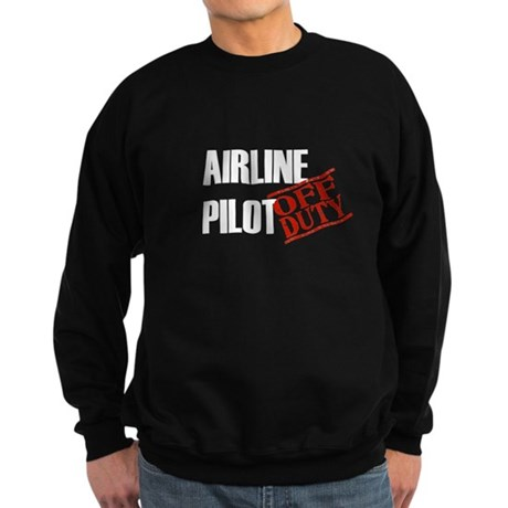 Off Duty Airline Pilot Sweatshirt (dark)