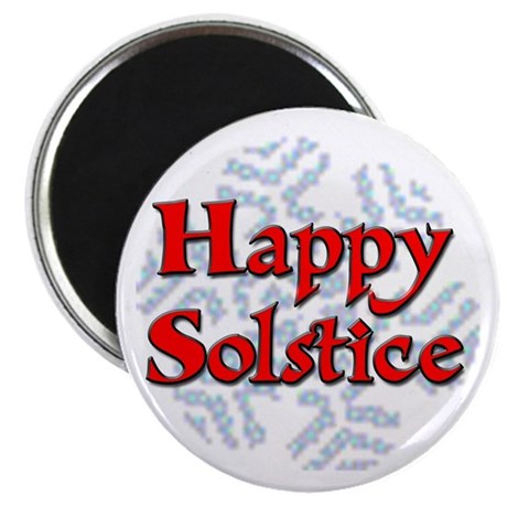 "Happy Solstice 2.25"" Magnet (100 pack)"
