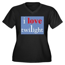 Twilight Love Women's Plus Size V-Neck Dark T-Shir