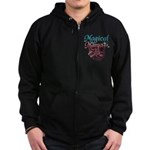 Magical Mama with Baby in Wom Zip Hoodie (dark)