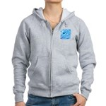 Icy Maya Jaguar Head Women's Zip Hoodie