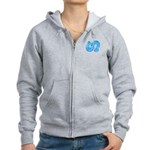 Icy Maya Jaguar Tail Women's Zip Hoodie