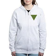 Arboreal Triangle Pocket Knot Zip Hoodie