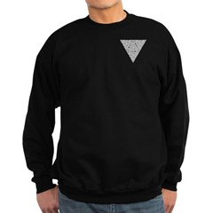 Blackwork Triangle Pocket Knot Sweatshirt