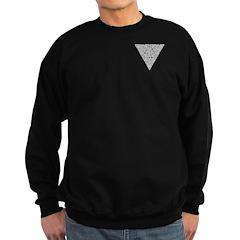 Blackwork Triangle Pocket Knot Sweatshirt (dark)