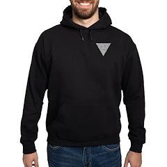 Blackwork Triangle Pocket Knot Hoodie