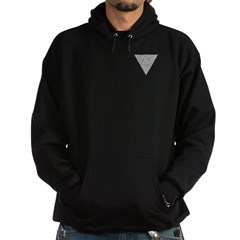 Blackwork Triangle Pocket Knot Hoodie (dark)