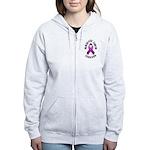 Pancreatic Cancer Survivor Women's Zip Hoodie