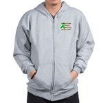 Pocket Brain Injury Month Zip Hoodie
