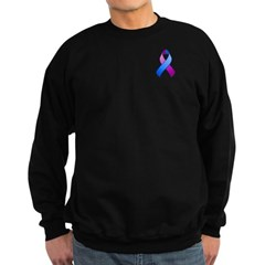 Blue and Purple Awareness Ribbon Sweatshirt