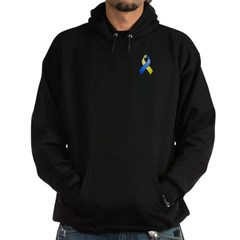 Blue and Yellow Awareness Ribbon Hoodie