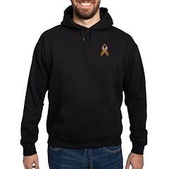 Brown Awareness Ribbon Hoodie (dark)