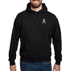 Gray Awareness Ribbon Hoodie (dark)