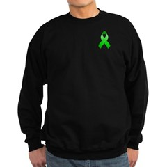 Green Awareness Ribbon Sweatshirt (dark)