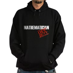 Off Duty Mathematician Hoodie