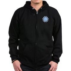 Flurry Snowflake V Zip Hoodie (dark)