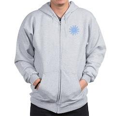 Flurry Snowflake V Zip Hoodie