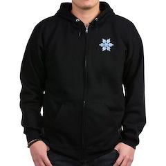 Flurry Snowflake VI Zip Hoodie (dark)