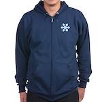 Flurry Snowflake IX Zip Hoodie (dark)