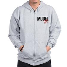 Off Duty Model Zip Hoodie
