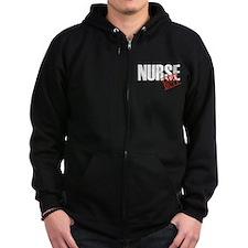 Off Duty Nurse Zip Hoodie