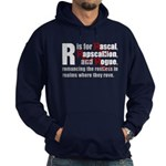 R is for Rascal Hoodie (dark)