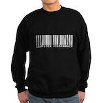 Computer Programmer Barcode Sweatshirt (dark)
