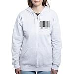 Lobbyist Barcode Women's Zip Hoodie