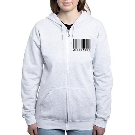 Messenger Barcode Women's Zip Hoodie