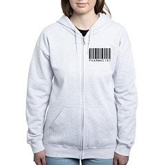 Pharmacist Barcode Zip Hoodie