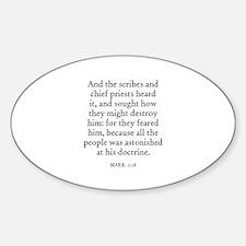 MARK 11:18 Oval Decal
