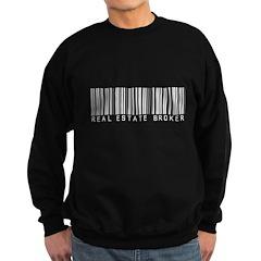 Real Estate Broker Barcode Sweatshirt