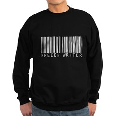 Speech Writer Barcode Sweatshirt