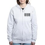 Type Setter Bar Code Women's Zip Hoodie