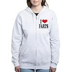I Love Farts Women's Zip Hoodie