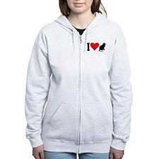 I Love Cats (design) Zip Hoodie