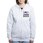 I Love John McCain Women's Zip Hoodie
