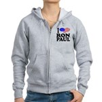 I Love Ron Paul Women's Zip Hoodie