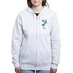 Stork Visit Boy Women's Zip Hoodie