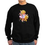 Little Girl Toy Horse Sweatshirt (dark)