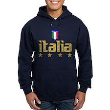 Italia 4 Star Soccer Hoodie