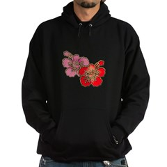 red and Pink Hibiscus Hoodie