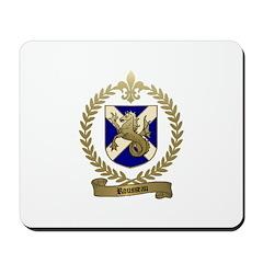 ROUSSEAU Family Crest Mousepad