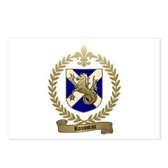 ROUSSEAU Family Crest Postcards (Package of 8)
