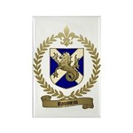 ROUSSEAU Family Crest Rectangle Magnet