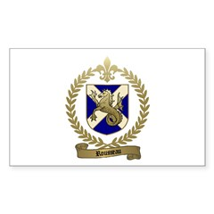 ROUSSEAU Family Crest Rectangle Decal